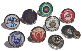 Custom small prem round badge